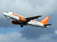 G-EZAW @ EGPH - Easyjet A319 Departs runway 24 - by Mike stanners