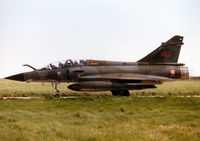 372 @ EGQS - Mirage 2000N, callsign French Air Force 4210 Bravo, of EC 02.004 taxying to the active runway at RAF Lossiemouth in the Summer of 1997. - by Peter Nicholson