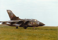 ZA599 @ EGQS - Tornado GR.1 of 12 Squadron taxying to Runway 05 at RAF Lossiemouth in the Summer of 1997. - by Peter Nicholson