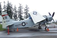 132534 - Douglas EA-1F Skyraider at the Evergreen Aviation & Space Museum, McMinnville OR - by Ingo Warnecke