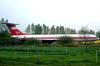 DDR-SEC - Ilyushin IL-62 [10903] Grossmachnow-Rangsdorf~D 06/05/2002. Seen here stored in a field prior to going to the museum at Merseburg. - by Ray Barber