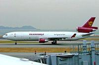 9M-TGR @ VHHH - McDonnell-Douglas MD-11F [48485] (Transmile Air Services) Hong Kong~B 31/10/2005