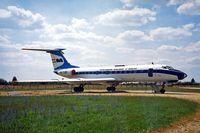 HA-LBE @ LHBP - Tupolev Tu-134A [9350802] (Malev) Budapest-Feriheghy~HA 15/06/1996