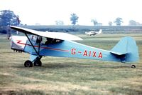 G-AIXA @ EGTH - Taylorcraft Plus D [134] Old Warden~G 30/06/1974. Image taken from a slide.