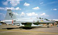 909 @ EGVA - Northrop F-5B Freedom Fighter  [N9012] (Royal Norwegian AF) RAF Fairford~G 19/07/1997 - by Ray Barber