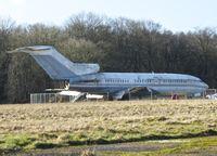 VP-BAA @ EGHL - 1966 Boeing 727-51, c/n: 19123 - WFU - at Lasham
