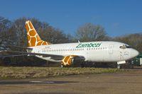 N616SC @ EGHL - GECAS 1993 Boeing 737-5YO, c/n: 26101 in Zambezi Airlines colours at Lasham  - ex B-2915 and 9J-ZJA
