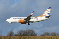 OK-SWX @ EGHL - Smart Wings 2002 Boeing 737-76N, c/n: 29885 arriving at Lasham