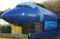 G-AWYV - Fuselage of 1969 BAC 111-501EX One-Eleven, c/n: BAC.178 at Hillside Nurseries near Lasham