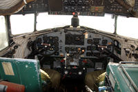 CS-TDA @ LPST - The cockpit of the Douglas C-47A Skytrain preserved in the Museu do Ar at Sintra Air Base in Portugal. - by Henk van Capelle