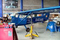 D-ECWQ @ EDWB - R/Cessna F.172M Skyhawk [0950] (Air Hamburg) Bremerhaven~D 22/05/2006. Seen here undergoing maintenance. - by Ray Barber