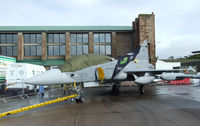 9819 @ EGQL - 211TL Gripen in the static display at Leuchars airshow 2010 - by Mike stanners