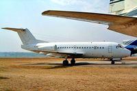 ZS-JAL @ FALA - Fokker F-28-3000 Fellowship [11151] (Airquarius Aviation) Laseria~ZS 05/10/2003. Seen here stored still wearing V5-KEA.