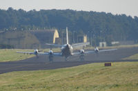 161765 @ EGQL - VP-62 Orion Taxiing out for a joint warrior sortie kicking up a large cloud of smoke from its Four 4,600 hp Allison T-56-A-14 turboprop engines - by Mike stanners