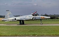 74-1554 @ EGVJ - taxying to the active at RAF Bentwaters