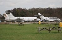 M-MTPO @ EGHH - JETS apron with M-ABEI and CS-DUE from viewing area. - by John Coates