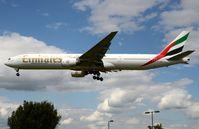 A6-EMQ @ EGLL - Emirates B773 landing in LHR - by FerryPNL