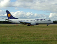 D-ABET @ EGPH - Lufthansa B737-300 arrives at EDI From FRA - by Mike stanners