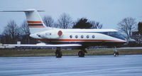 N23M @ LTN - Gulfstream II seen at Luton in January 1977. - by Peter Nicholson