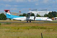 LX-LGA @ EDDF - Luxair Dash 8 ready for take-off - by FerryPNL