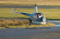 G-GJCD @ EGFH - R22 Beta operating from Swansea Airport. On loan to Heli-air Wales whilst G-LINS is away from base. - by Roger Winser