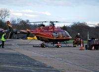 G-IMBL @ EGTF - Bell 407 at Fairoaks. Ex N370EB - by moxy
