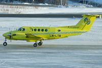LN-LTB @ ENTC - Lufttransport AS 's Beech B200 King Air, c/n: BB-2001 at Tromso - by Terry Fletcher