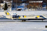 SE-DUY @ ENTC - Canadair CL-600-2B19 Regional Jet CRJ-200LR, c/n: 7023 of West Air Europe