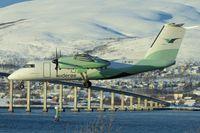 LN-WIV @ ENTC - 1992 De Havilland Canada DHC-8-102, c/n: 343 of Wideroe at Tromso