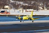 LN-LTC @ ENTC - 2008 Hawker Beechcraft Corp B200, c/n: BB-2002 arriving at Tromso