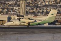 LN-WIR @ ENTC - Wideroe 1991 De Havilland Canada DHC-8-103A, c/n: 273 at Tromso - by Terry Fletcher
