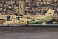 LN-WIR @ ENTC - Wideroe 1991 De Havilland Canada DHC-8-103A, c/n: 273 at Tromso - by Terry Fletcher