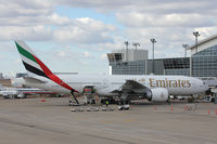 A6-EWB @ DFW - Emirates 777 at the gate - DFW Airport - by Zane Adams