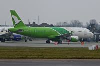 N997AG @ EGMC - Airbus A320-212, c/n: 497 in First Nations colours at Southend