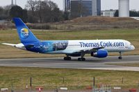 G-TCBB @ EGBB - Thos Cook 1999 Boeing 757-236, c/n: 29945 lines up for departure