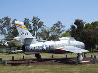 51-9433 - Republic F-84F Thunderstreak at the Castle Air Museum, Atwater CA - by Ingo Warnecke