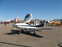 N122LL @ KCGZ - Interesting head rest.  I always thought the Lancair seat backs looked low.  Cactus fly in 2013 - by 65flynn