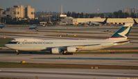 B-LJE @ MIA - Cathay Cargo 747-8F