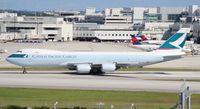 B-LJG @ MIA - Cathay Cargo 747-8F