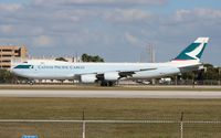 B-LJH @ MIA - Cathay Cargo 747-8F