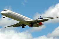LN-ROA @ ESSA - Scandinavian Airlines MD-90-30 approaching Stockholm Arlanda airport, Sweden. - by Henk van Capelle