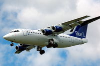 OH-SAI @ ESSA - Blue1 Avro RJ85 approaching Stockholm Arlanda airport, Sweden. - by Henk van Capelle