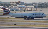G-CIVL @ MIA - British Airways One World 747-400