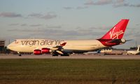 G-VBIG @ MIA - Virgin Atlantic (Tinker Belle) 747-400