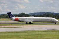 LN-ROM @ EGCC - Scandinavian Airlines. - by Howard J Curtis