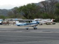 N7133G @ SZP - 1969 Cessna 172K SKYHAWK, Lycoming O-320-E2D 150 Hp, landing roll Rwy 22 - by Doug Robertson