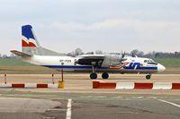 SP-FDS @ EGBB - Exin Air Antonov An-26B, c/n: 12205 parking at Birmingham