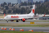 9M-LNF @ KBFI - First 737-900 for Malindo Air which is also the 7500th 737 aircraft built. - by Joe G. Walker
