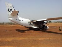 LZ-CCJ - After crash landing in Wau, South Sudan - by Unknown