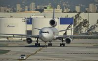 N591FE @ KLAX - Taxiing to parking at LAX